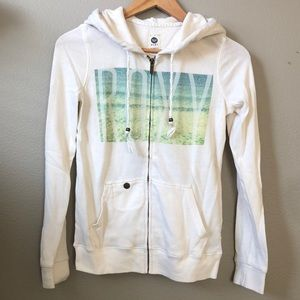 Roxy full zip hoodie size XS